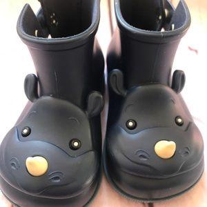 Mini Melissa Rhino Boots Size 7 - Navy Blue